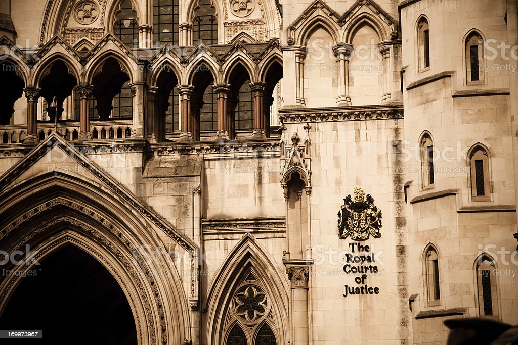 The Royal Courts of Justice Building, London stock photo