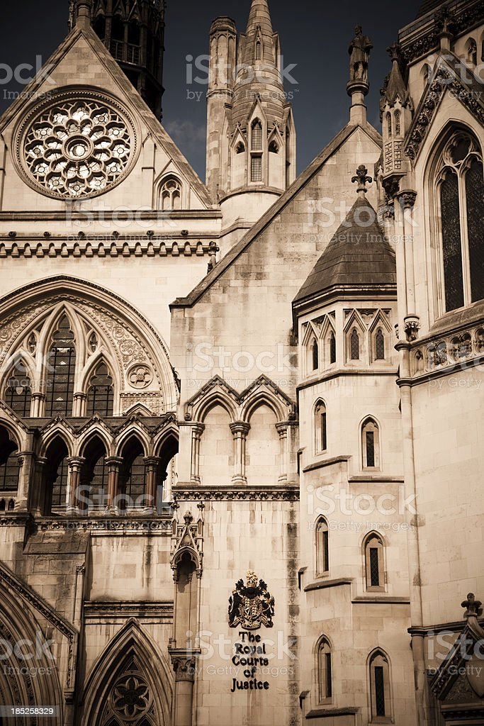 The Royal Courts of Justice Building, London UK stock photo