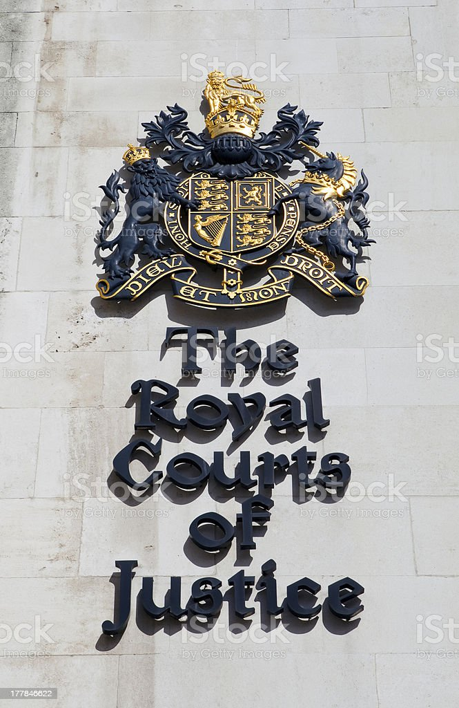 The Royal Courts of Justice in London stock photo