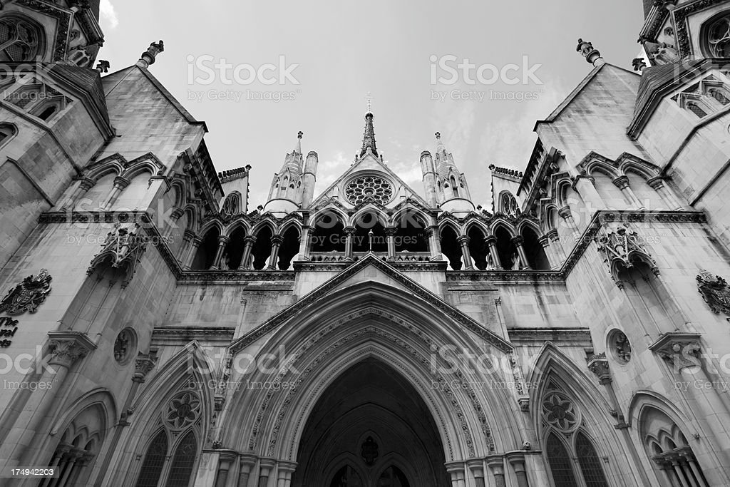 The Royal Courts of Justice, London, England stock photo