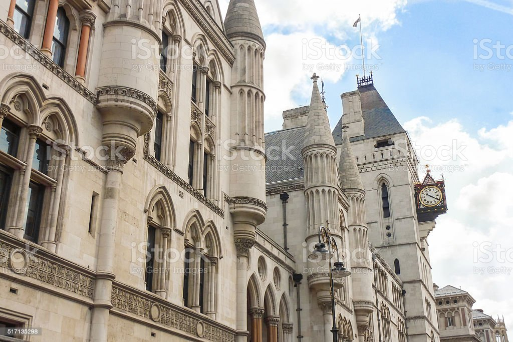 The Royal Courts of Justice, London stock photo