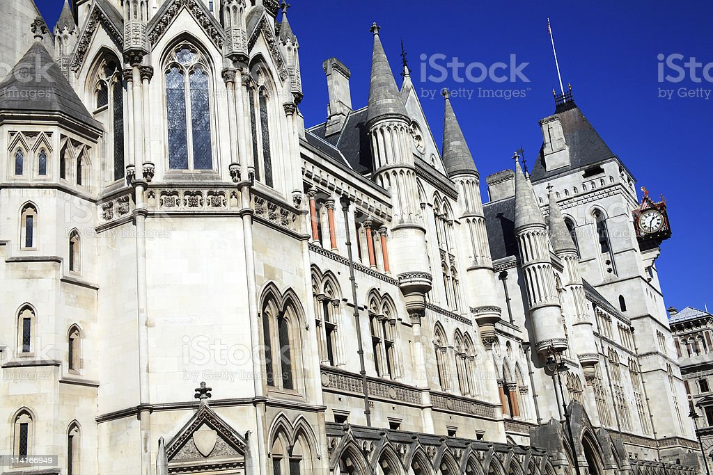 The Royal Courts of Justice stock photo