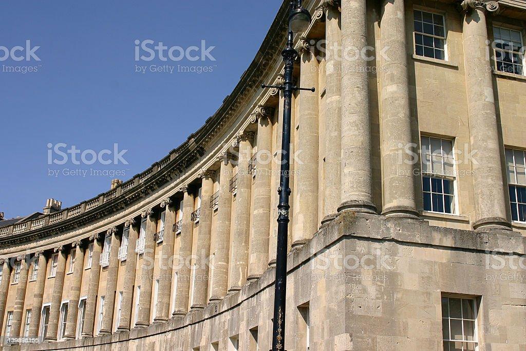 The Royal Crescent, Bath, England stock photo
