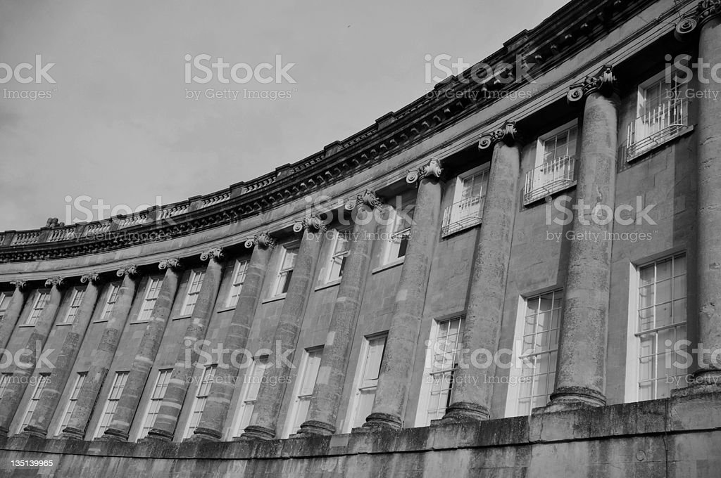 The Royal Crescent in Bath England royalty-free stock photo