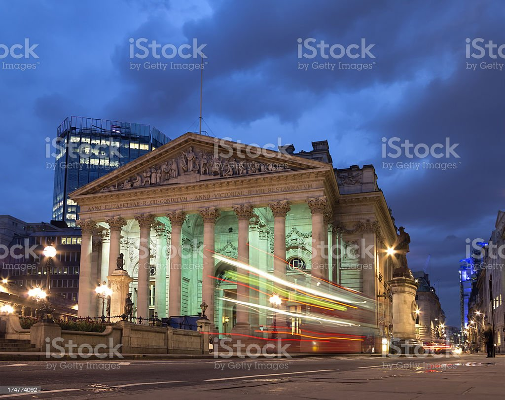 Bank of England in the City of London stock photo