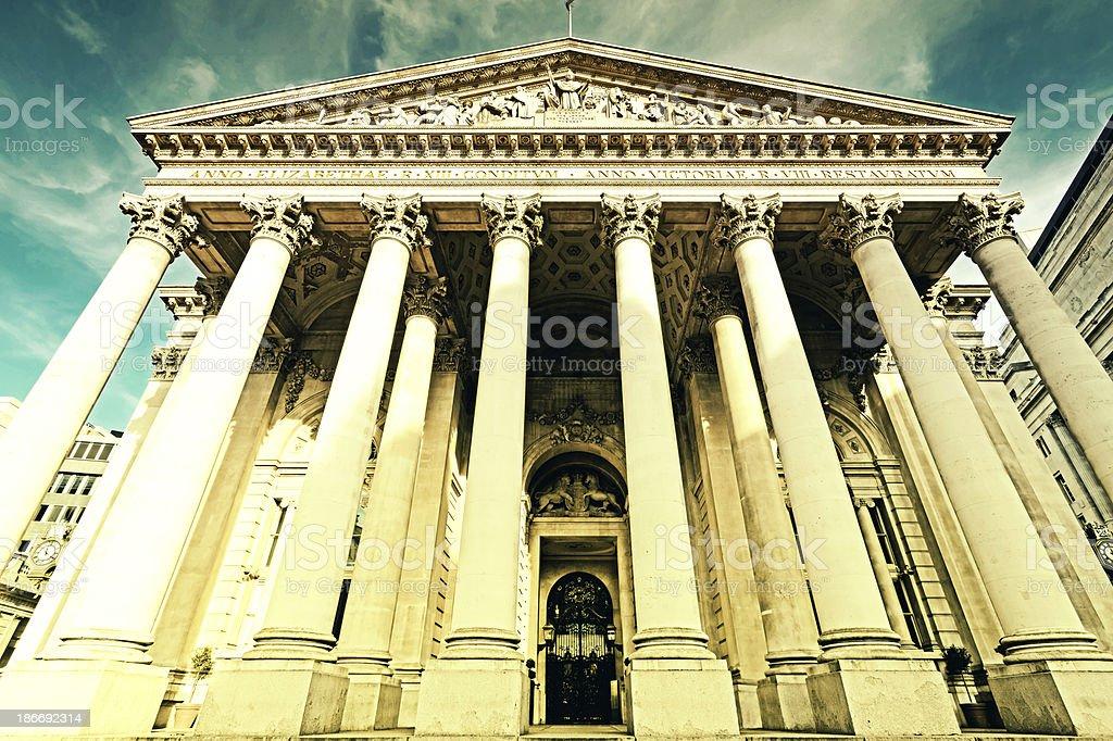 The Royal Exchange stock photo