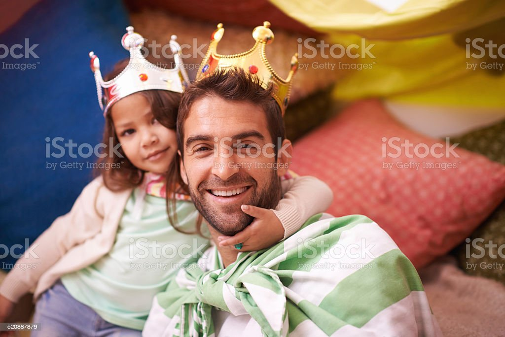 The Royal family...almost! stock photo
