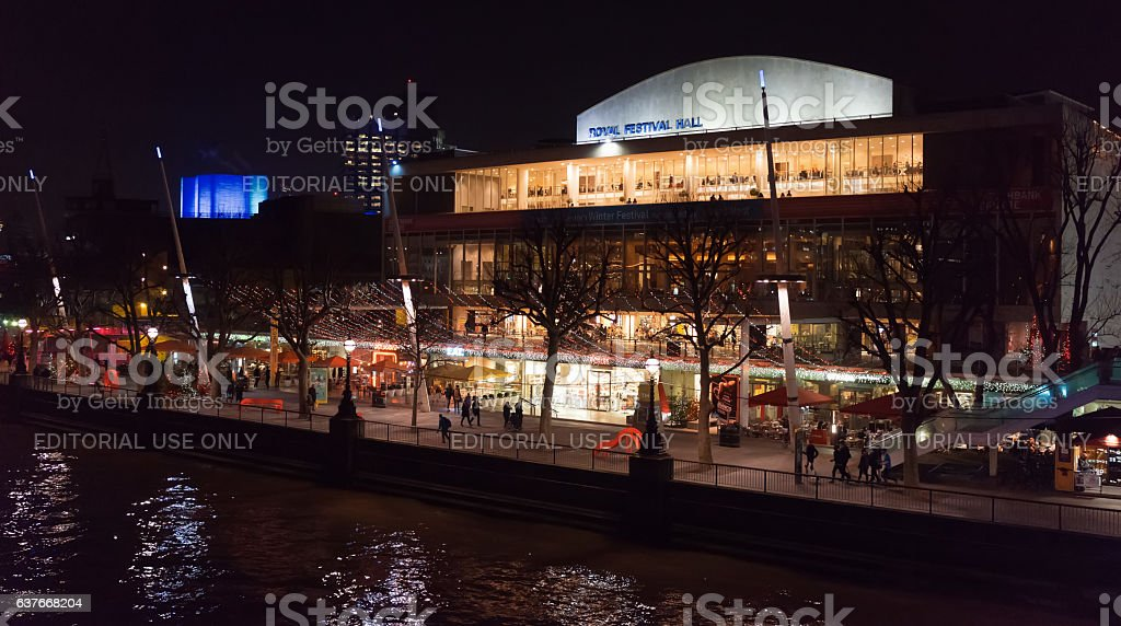 The Royal Festival Hall and Southbank, London stock photo