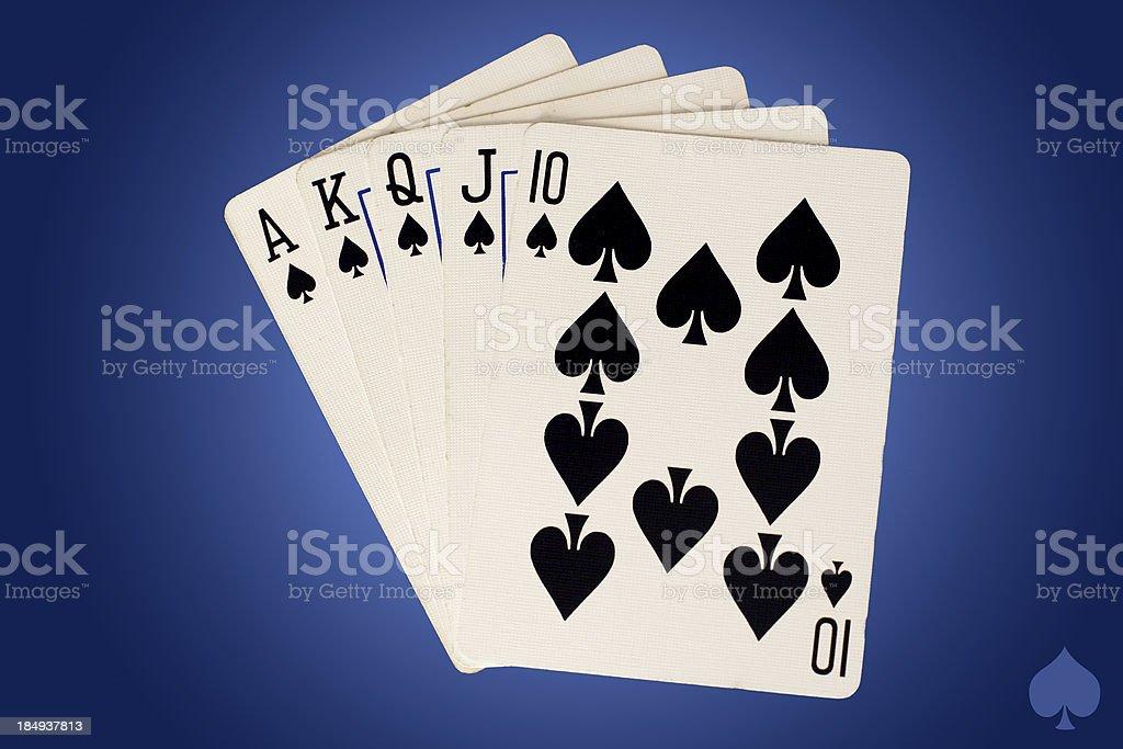 The royal flush spades royalty-free stock photo