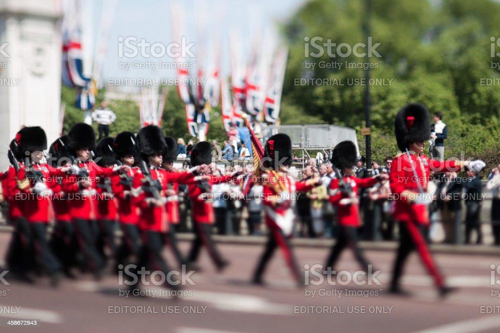 The Royal Guard of London royalty-free stock photo