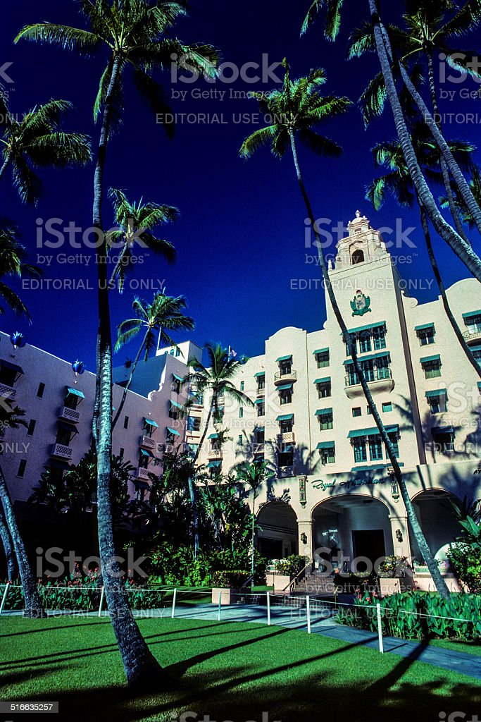 The Royal Hawaiian Hotel stock photo