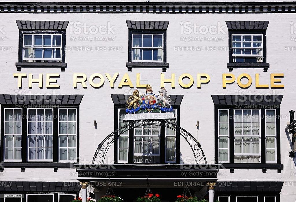The Royal Hop Pole Hotel, Tewkesbury. stock photo