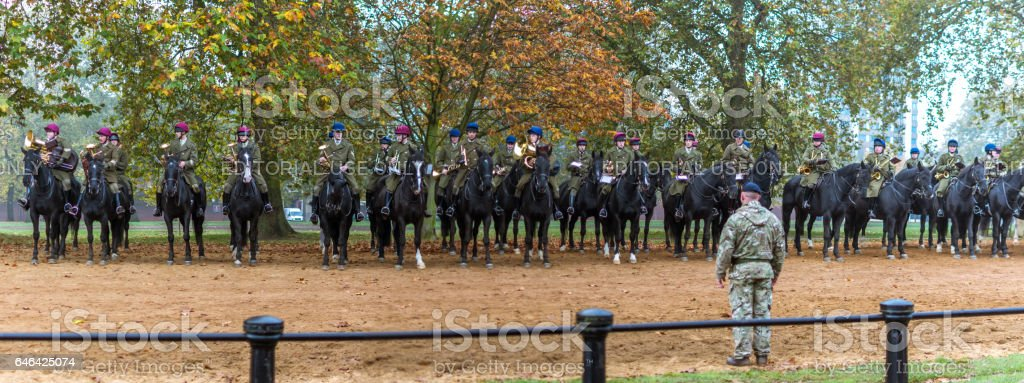 The royal horseguard parade band stock photo