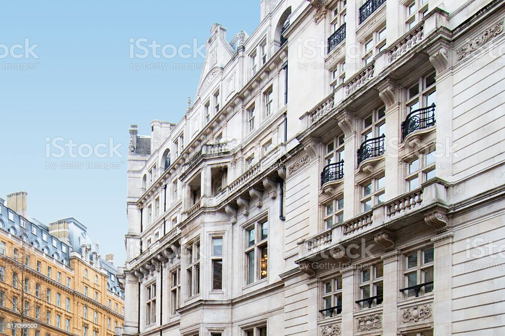 The Royal Horseguards Hotel Historic Building in London stock photo