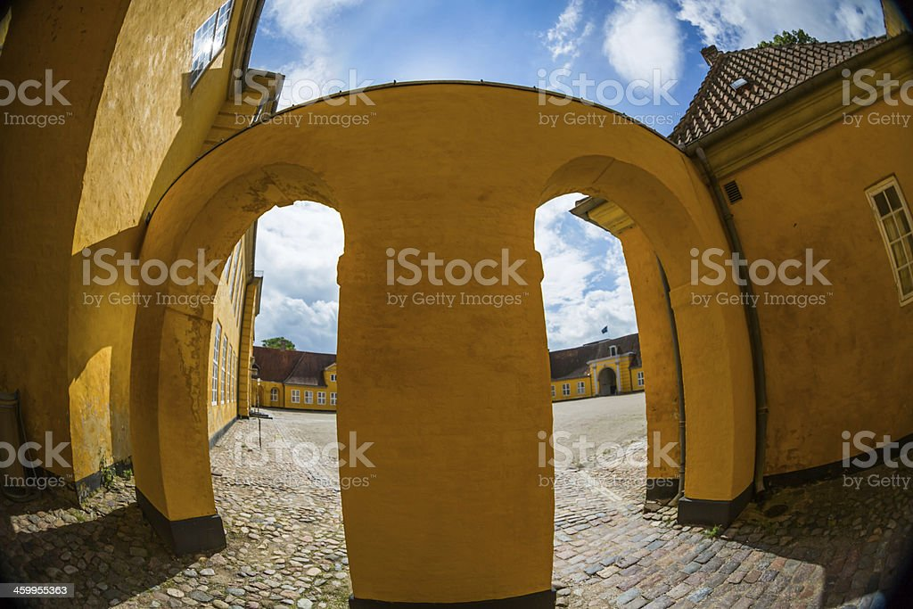 The Royal Mansion in Roskilde stock photo