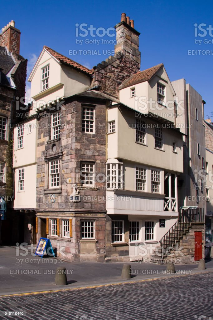 The Royal Mile, Edinburgh, Scotland – July 30, 2009: John Knox House stock photo