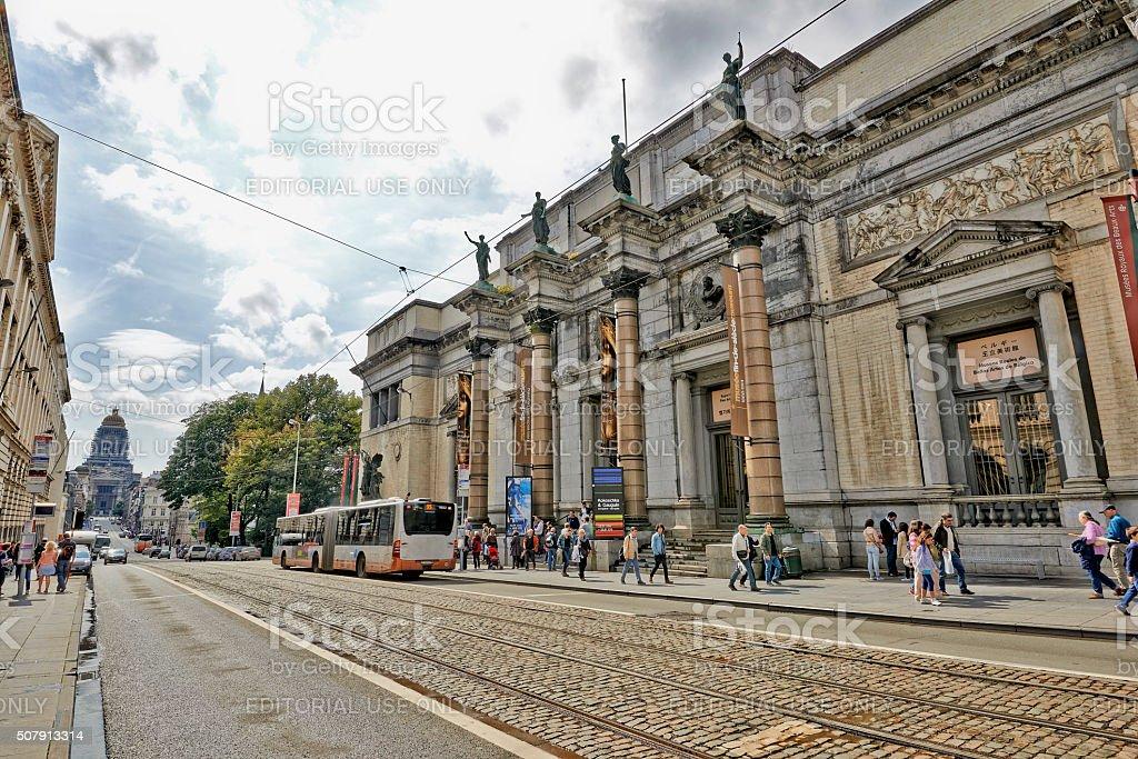 The Royal Museum of Belgium, Main entrance stock photo
