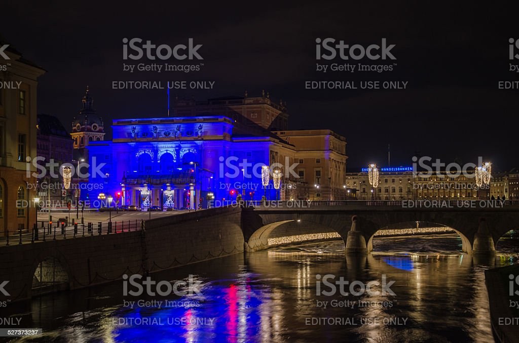 The Royal Opera House in Stockholm stock photo