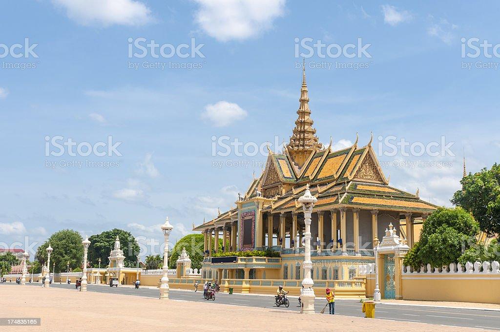 The Royal Palace And Silver Pagoda In Phnom Penh, Cambodia stock photo