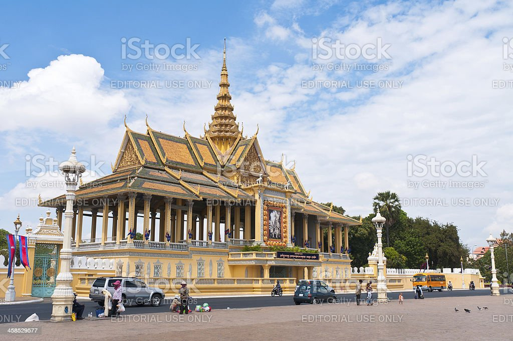 The Royal Palace And Silver Pagoda In Phnom Penh, Cambodia stock photo