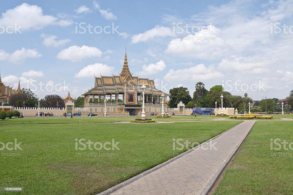 The Royal Palace And Silver Pagoda stock photo