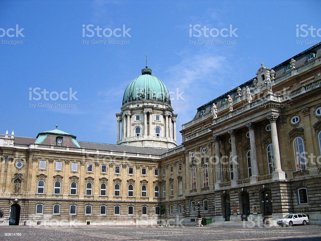 The Royal Palace - Budapest, Hungary royalty-free stock photo