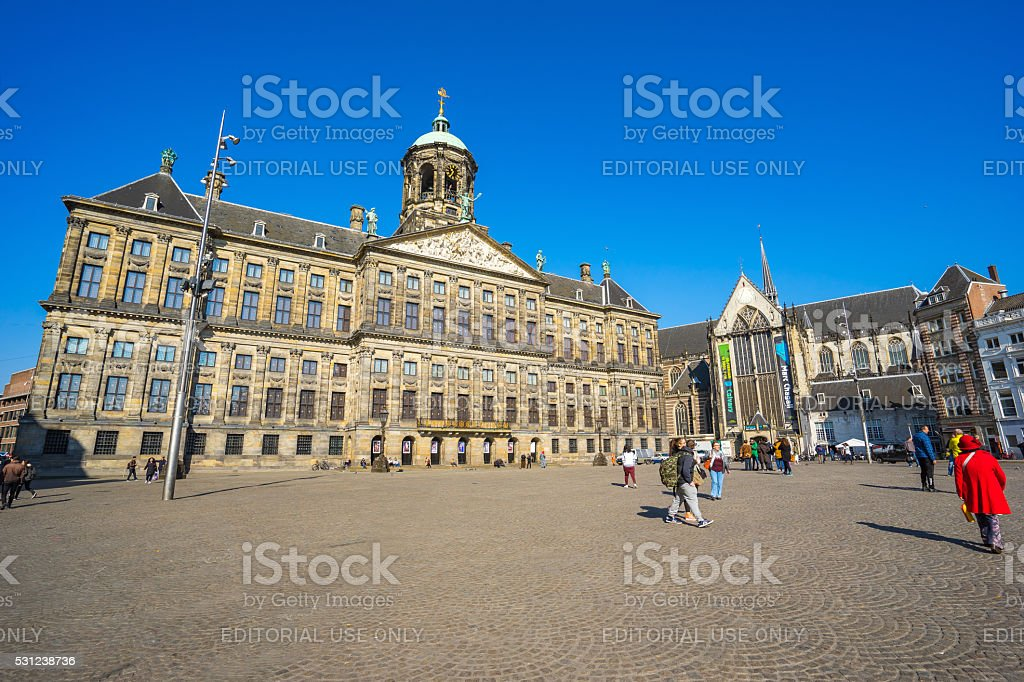 The Royal Palace in Amsterdam, Netherlands stock photo