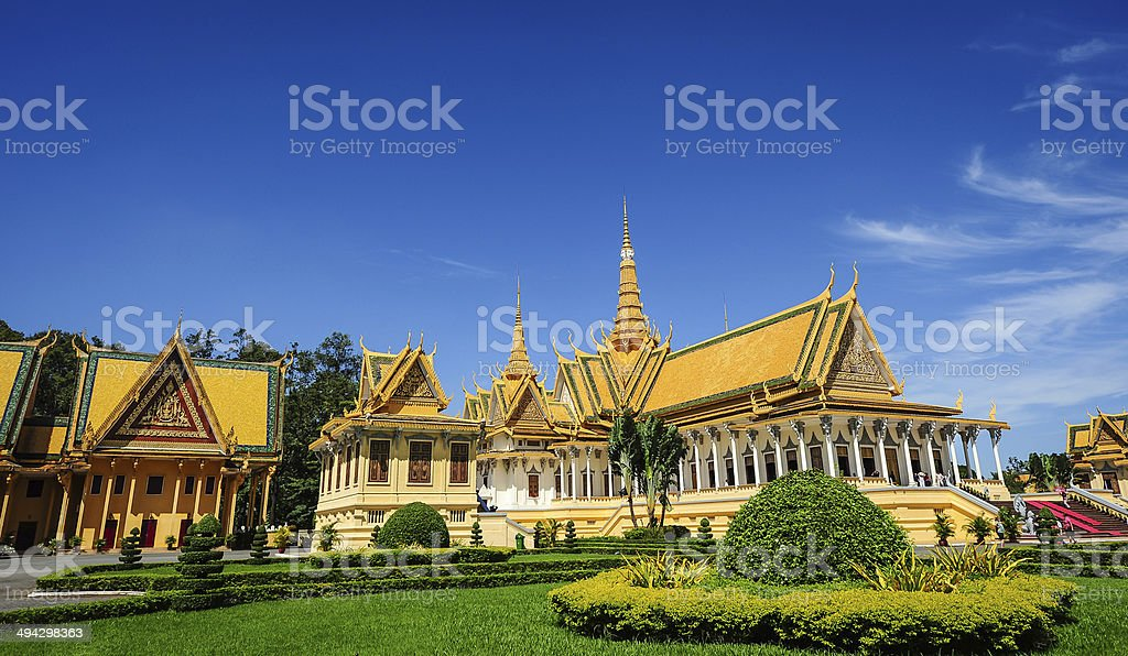 The Royal Palace In Phnom Penh, Cambodia stock photo