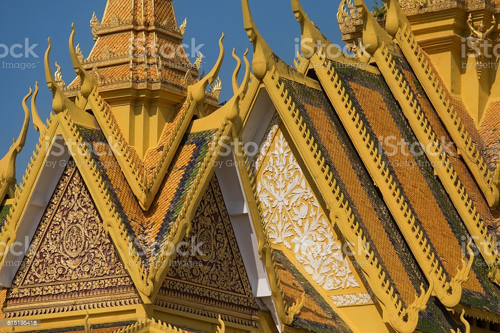 The Royal palace in Phnom Penh stock photo