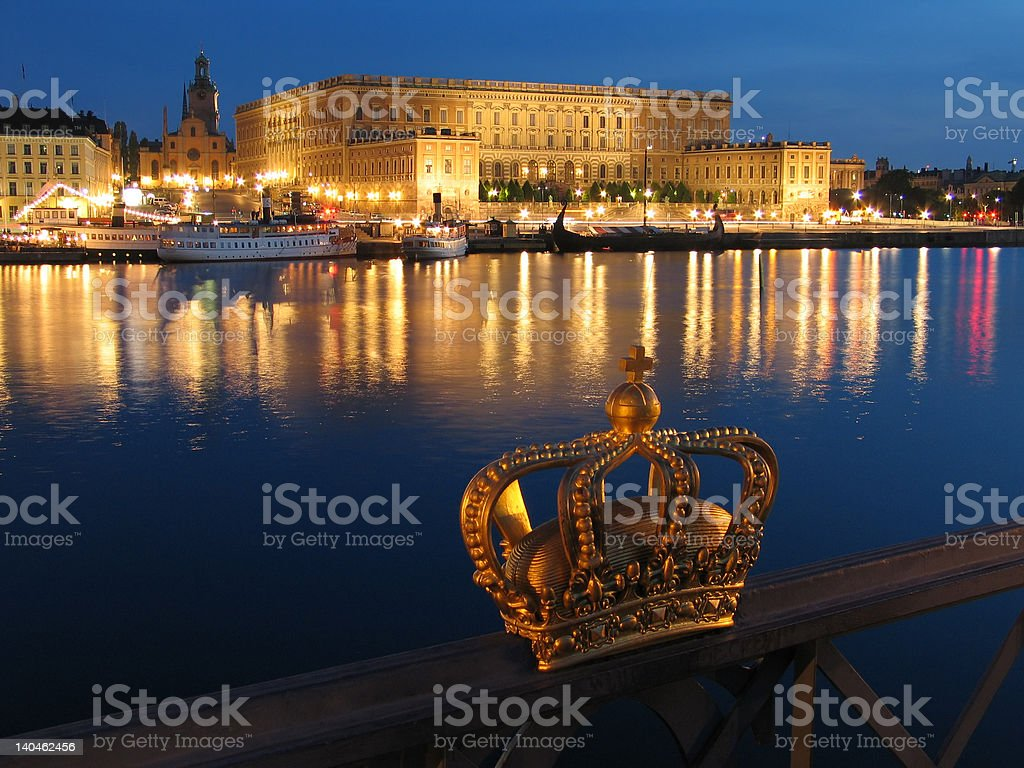 The Royal Palace in Stockholm. stock photo