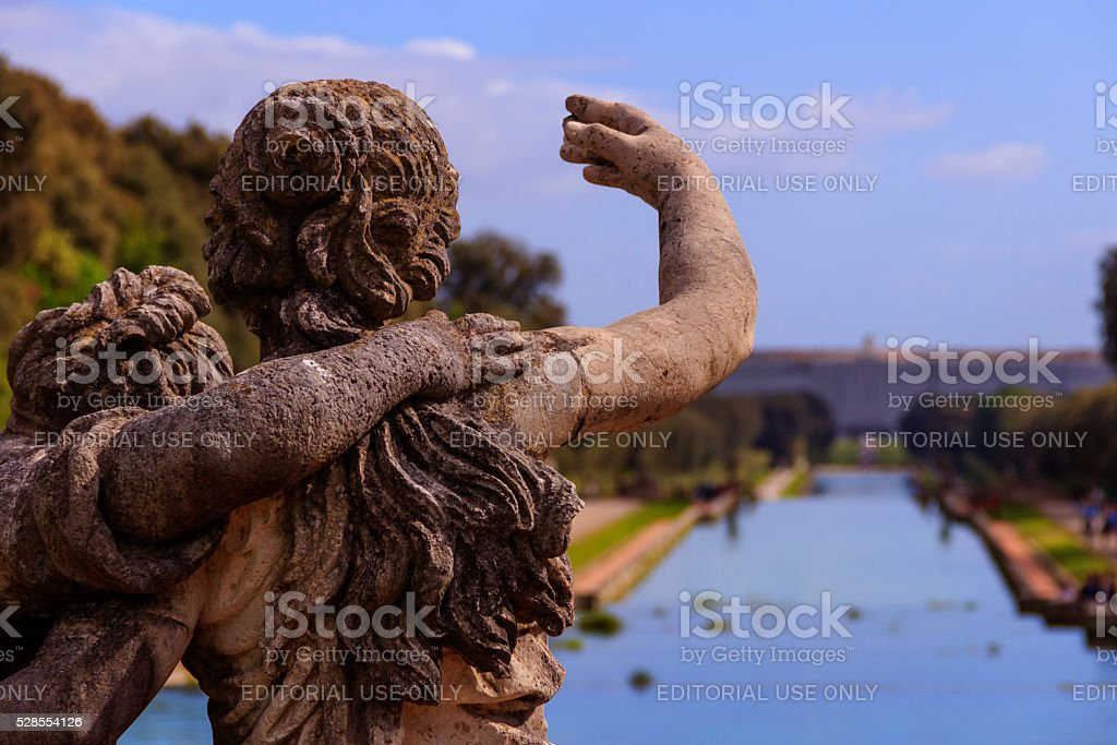 The Royal Palace of Caserta: the garden. Italy (Campania). stock photo