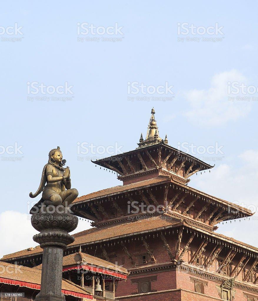 The Royal palace of Patan Durbar Square. stock photo