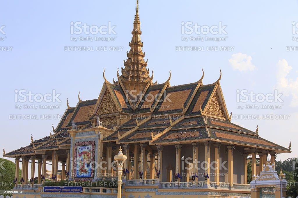 the royal palace of Phnom Phen stock photo