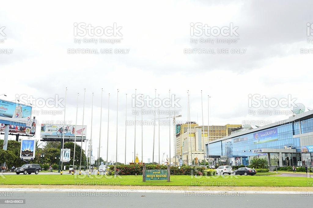 The Royal Palace, Park Phnom Penh, Cambodia stock photo