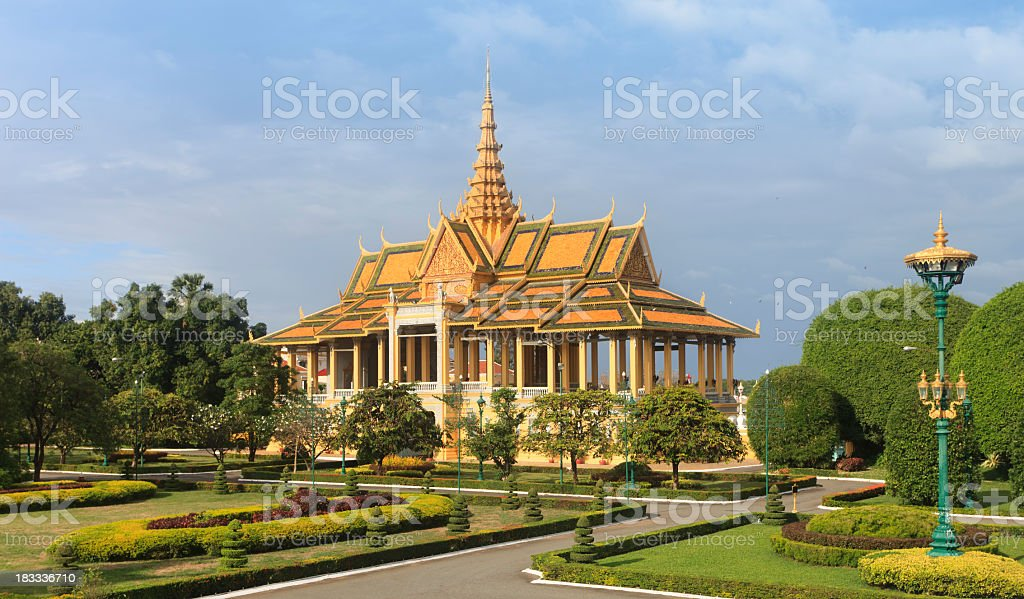 The Royal Palace, Phonom Penh stock photo