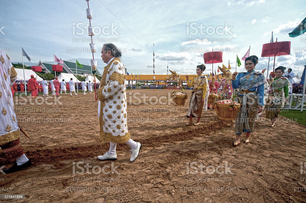The Royal Plowing Ceremony . royalty-free stock photo