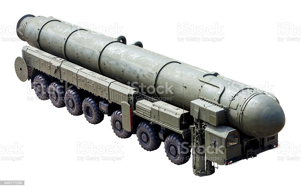 The RS-24 (Topol-M) - russian weapon intercontinental ballistic stock photo