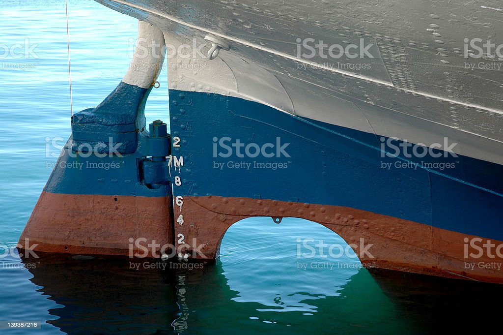 The rudder - small but powerful! stock photo