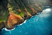 The rugged Napali Coastline of Kauai, Hawaii