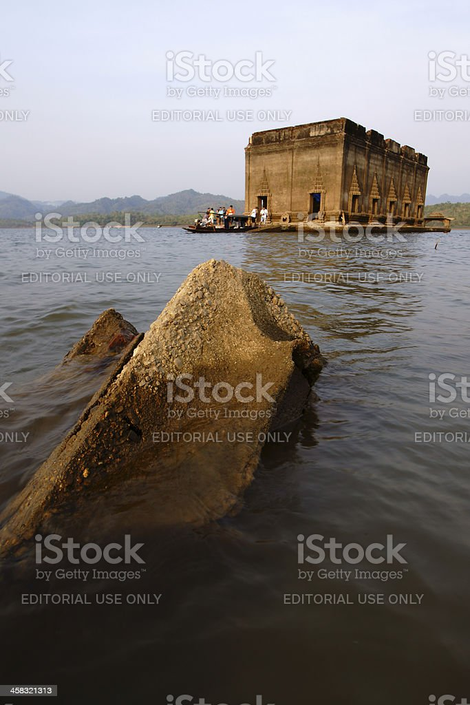 The ruin sunken temple royalty-free stock photo