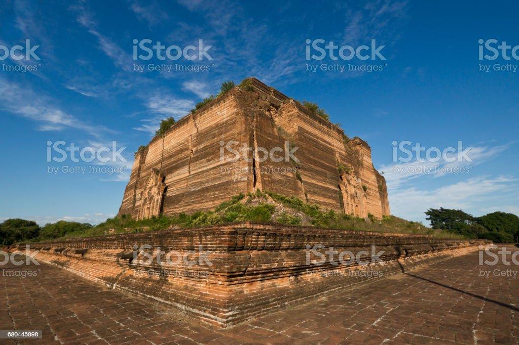 The ruined Mingun pagoda Unfinished pagoda in Mingun paya Temple, Mandalay - Myanmar stock photo