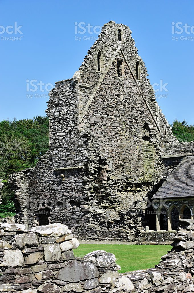 The ruins of an old historic Scottish abbey stock photo