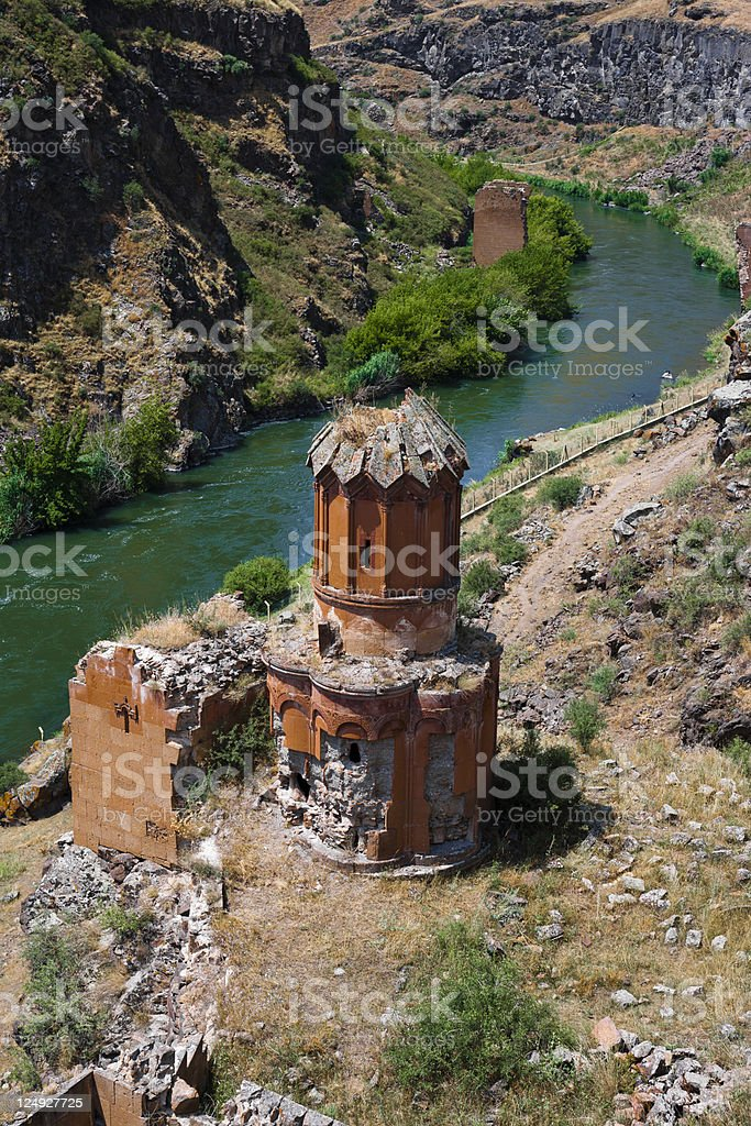 The ruins of Ani stock photo