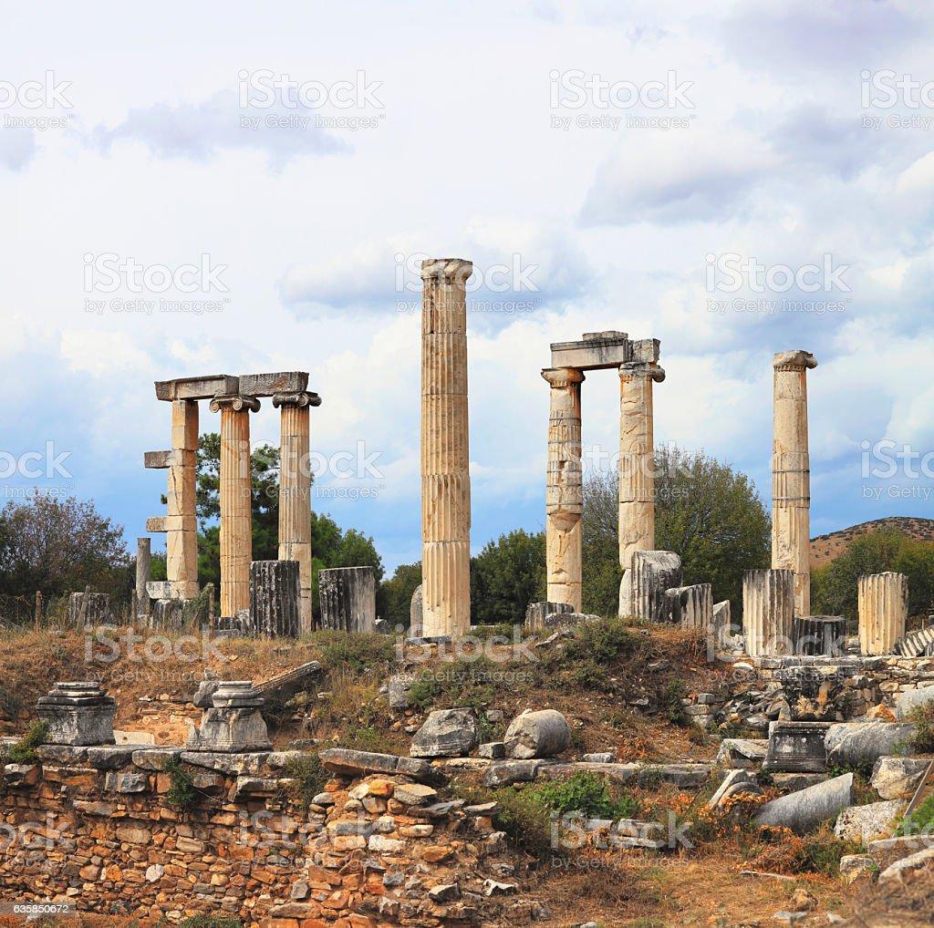 The ruins of Aphrodisias - Panoramic stock photo