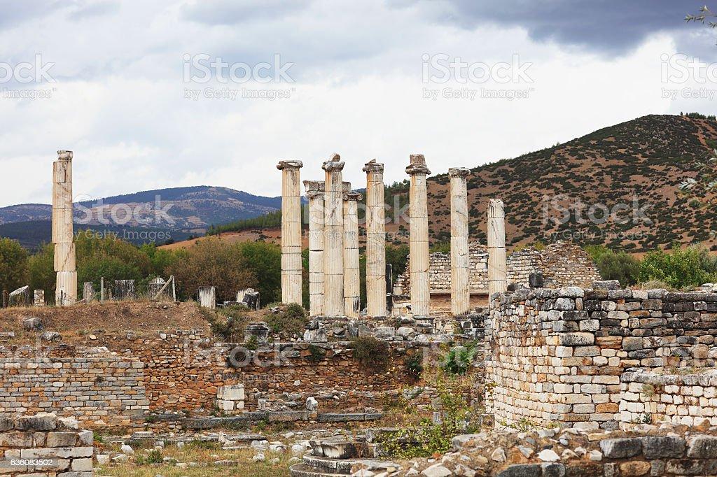 The ruins of Aphrodisias stock photo