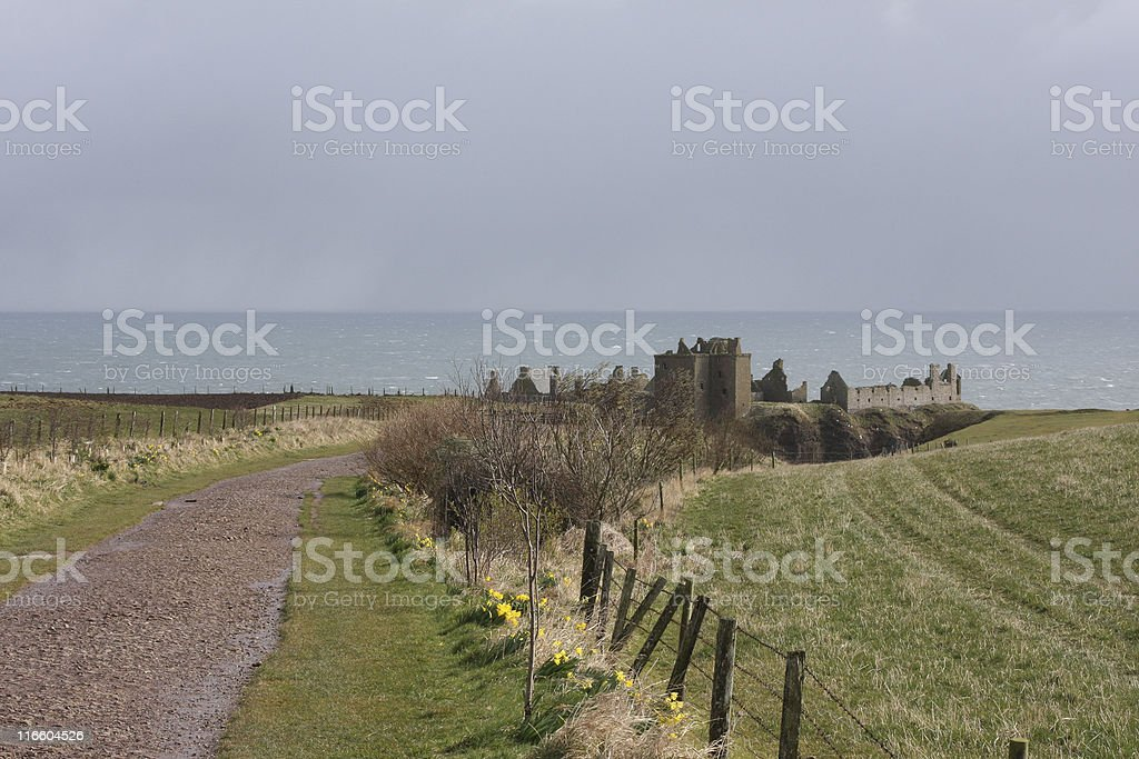 The ruins of Dunnottar Castle, Stonehaven, Scotland royalty-free stock photo
