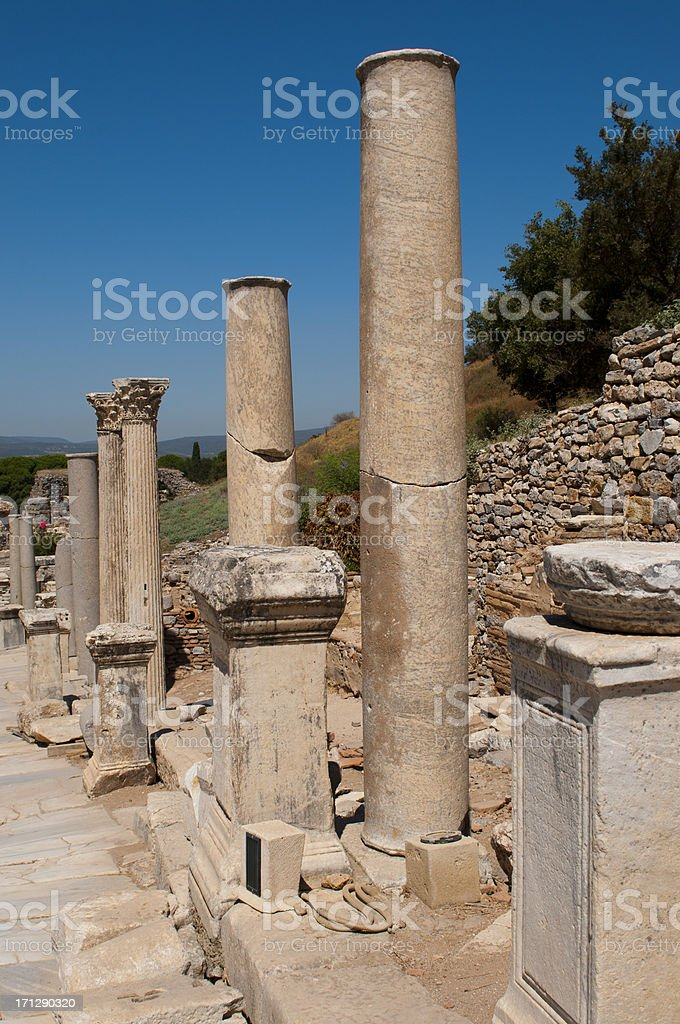 The ruins of Ephesus, Turkey royalty-free stock photo