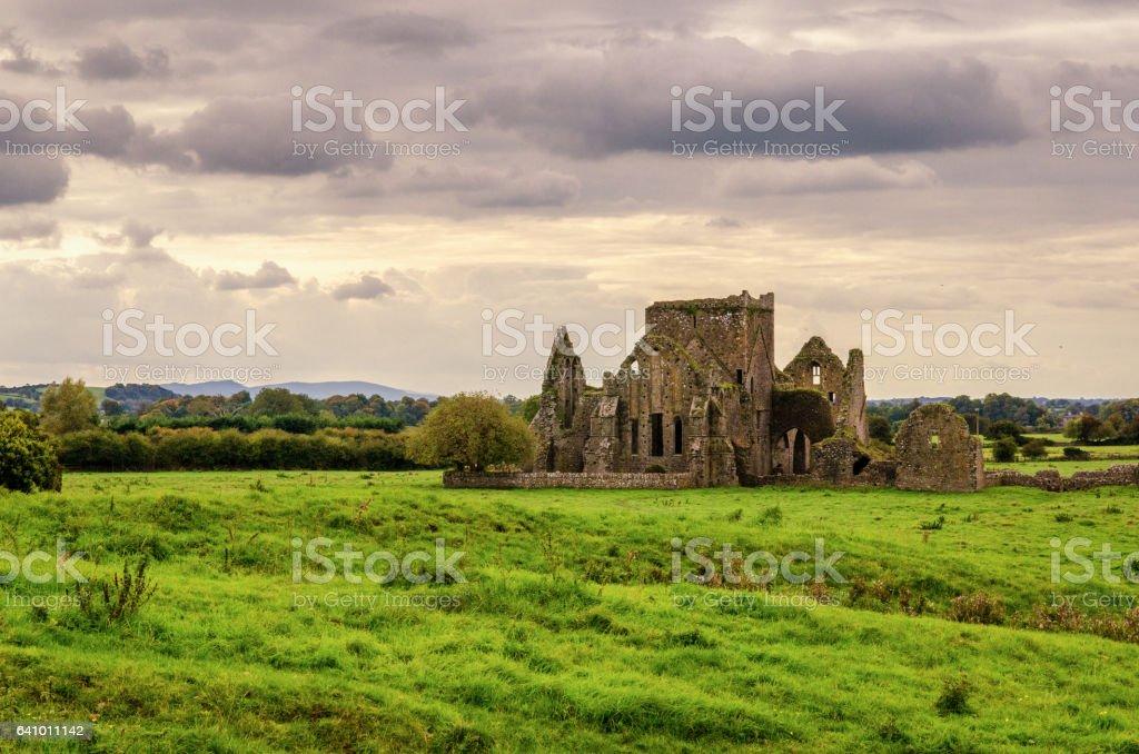 The Ruins of Hore Abbey near the Rock of Cashel stock photo