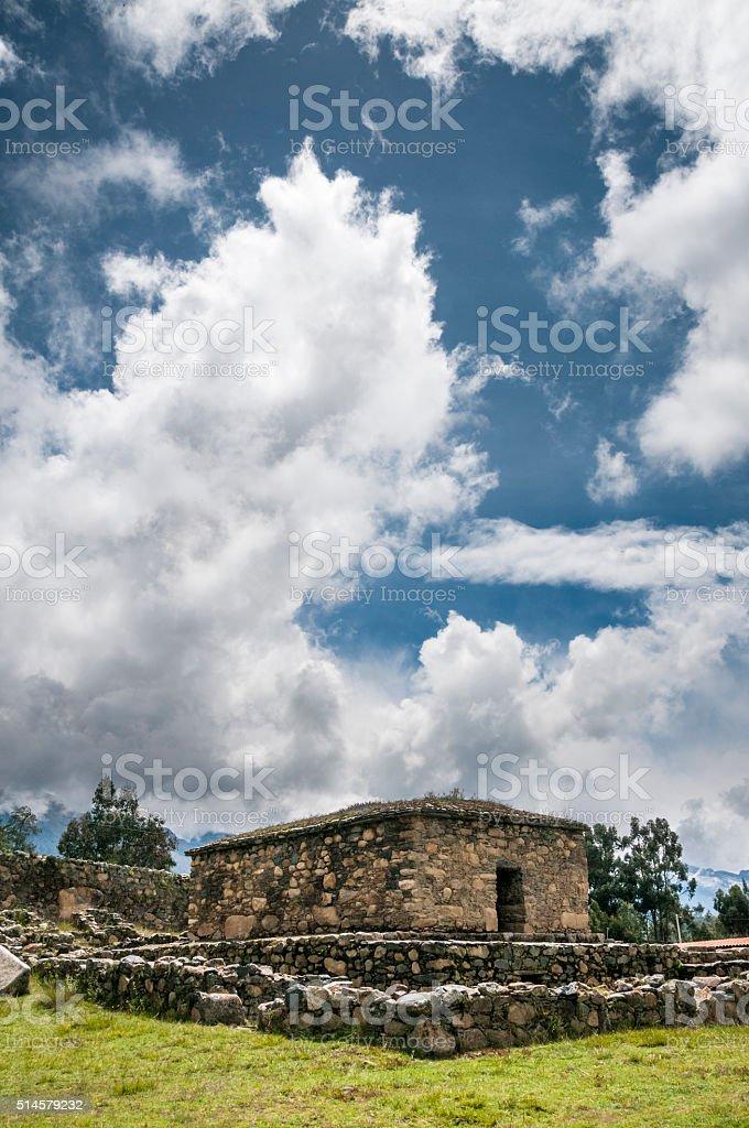 The Ruins Of Ichic Wilcawain In Huaraz, Peru stock photo