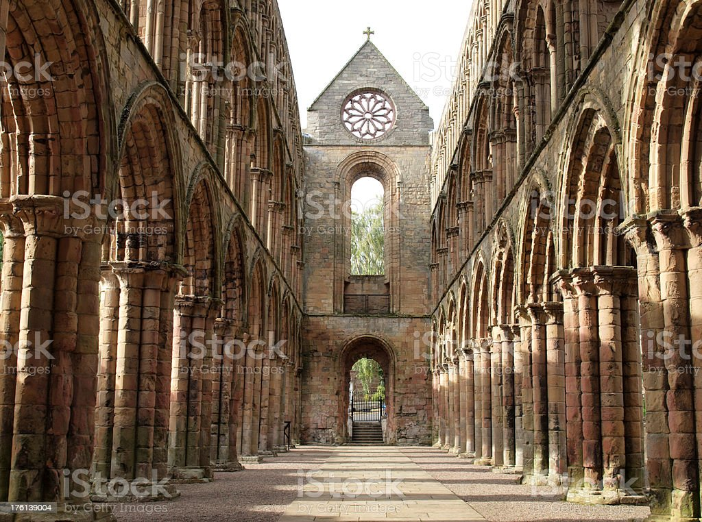 The Ruins of Jedburgh Abbey stock photo